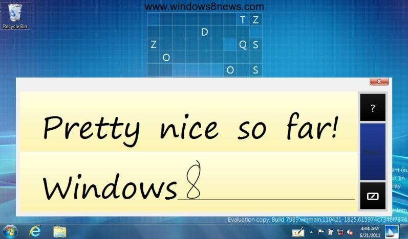 windows 8 escritura manual
