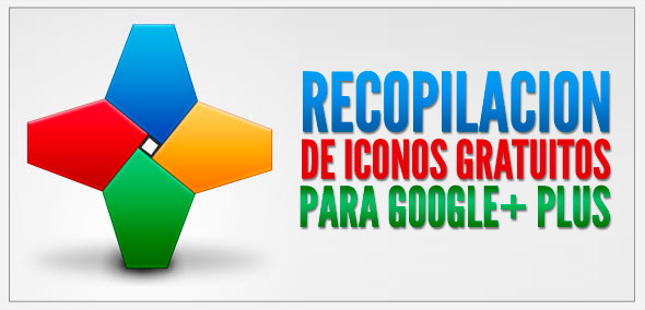 recopilacion iconos gratuitos google plus
