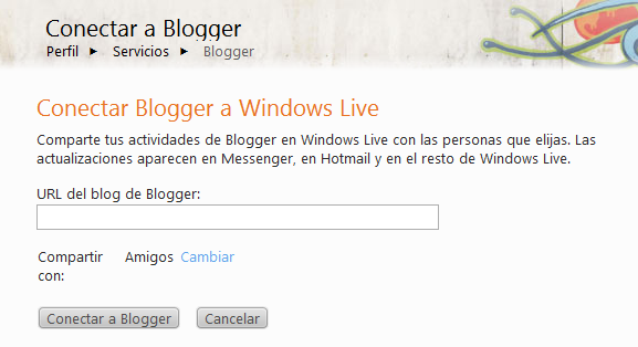 conectar blogger y hotmail