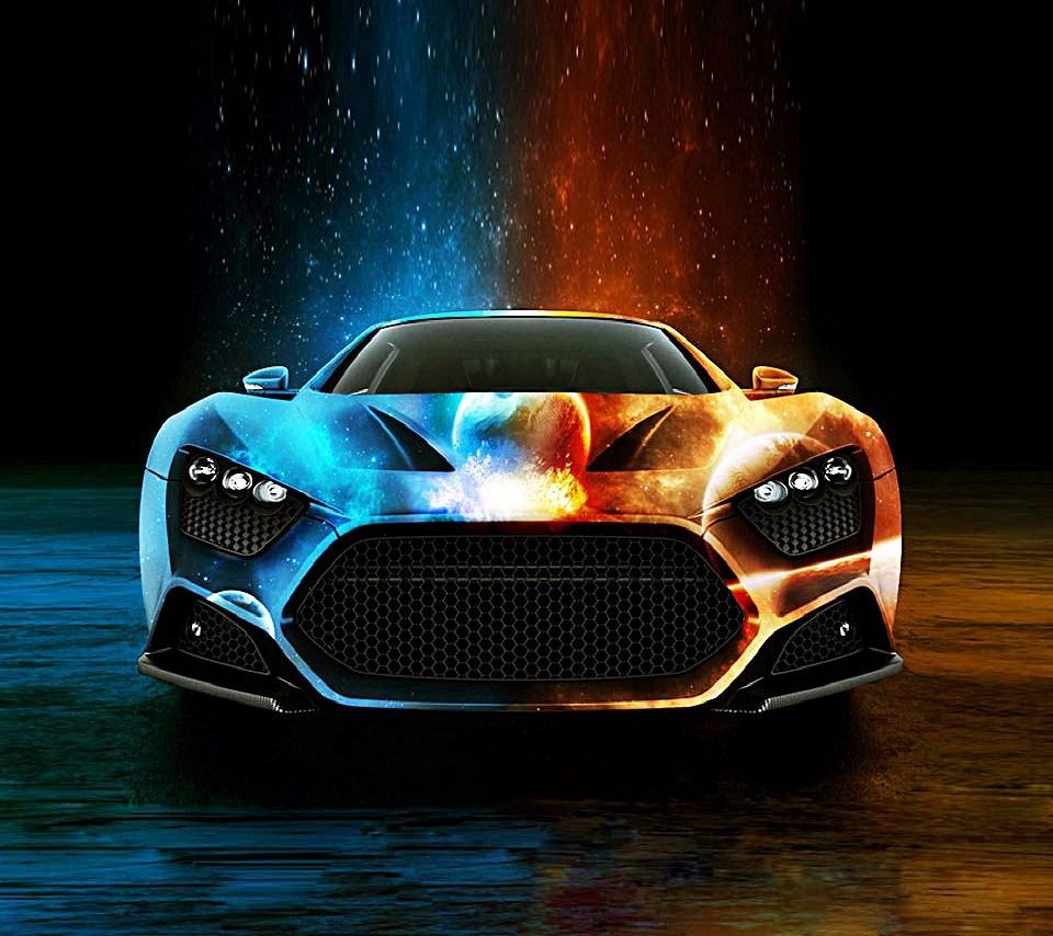 Neon Cool Car