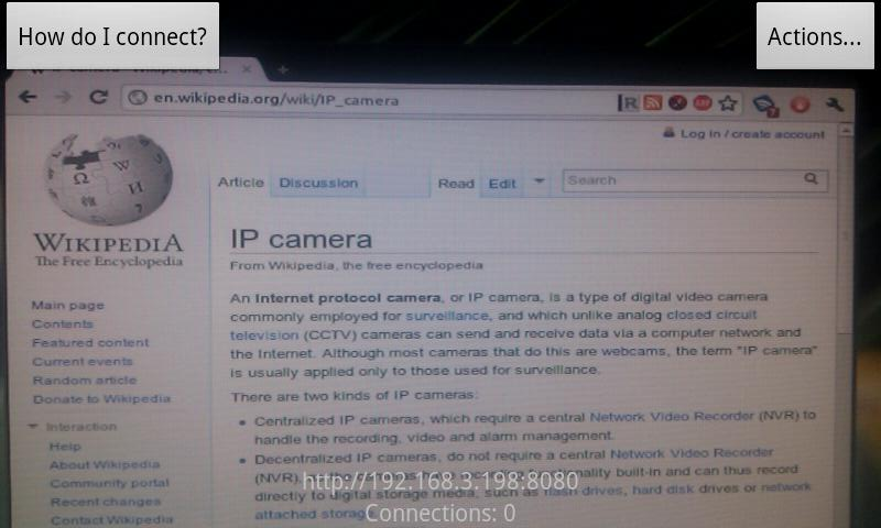 captura ip webcam
