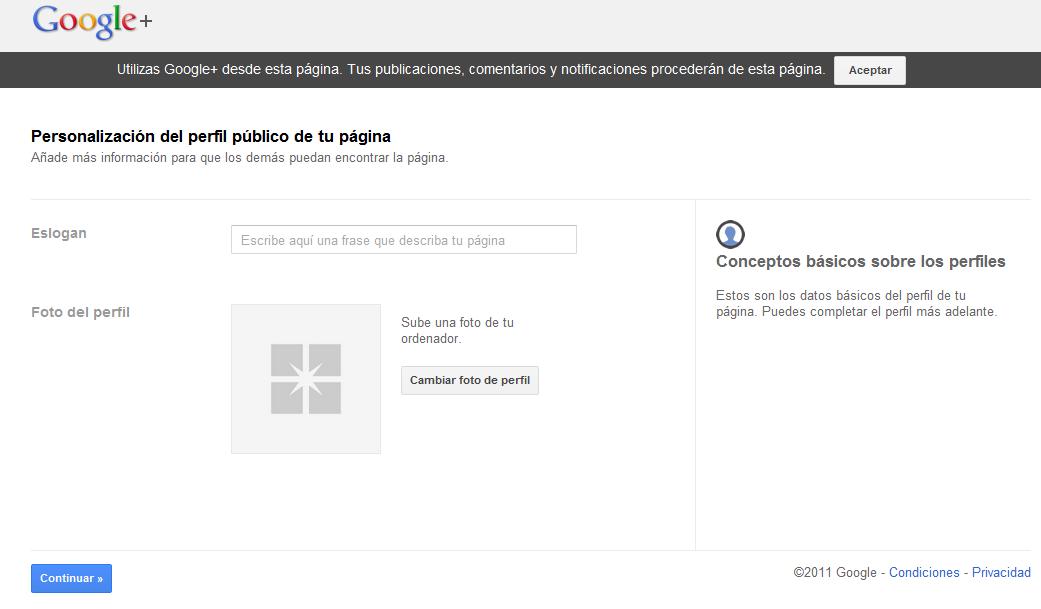 crear pagina en google+ paso 4