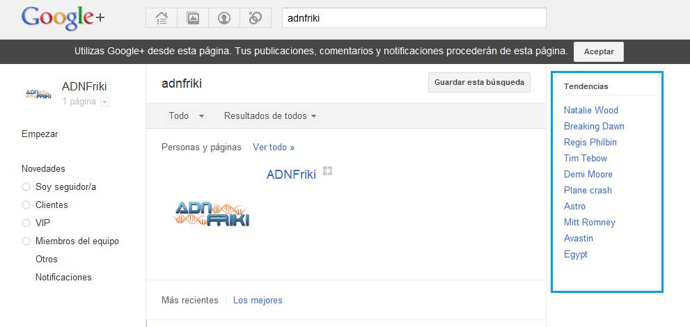 tendencias google+