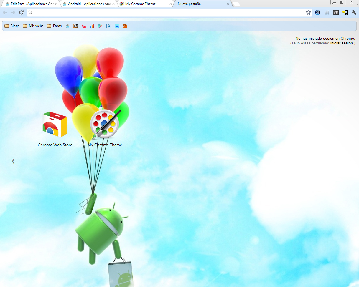 tema chrome ire