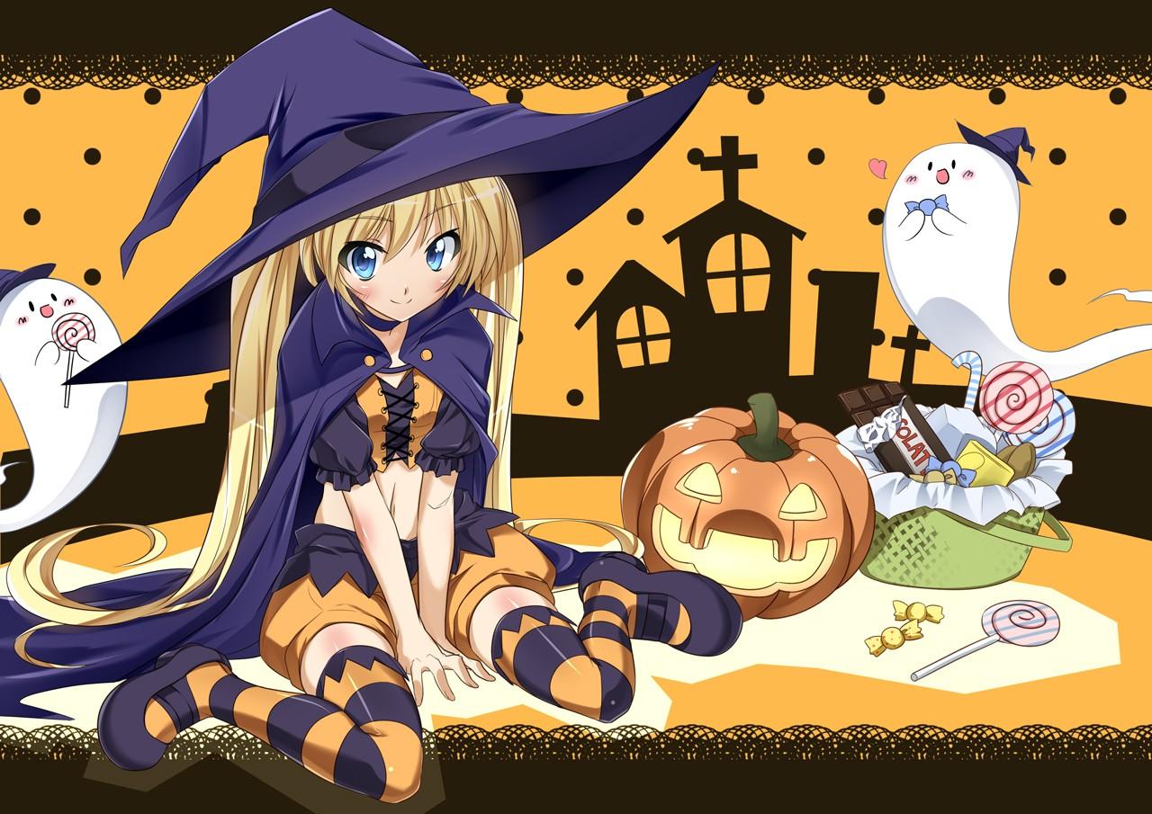 fondo halloween anime