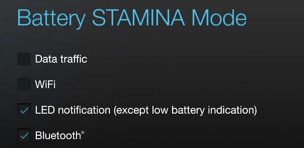 battery stamina mode