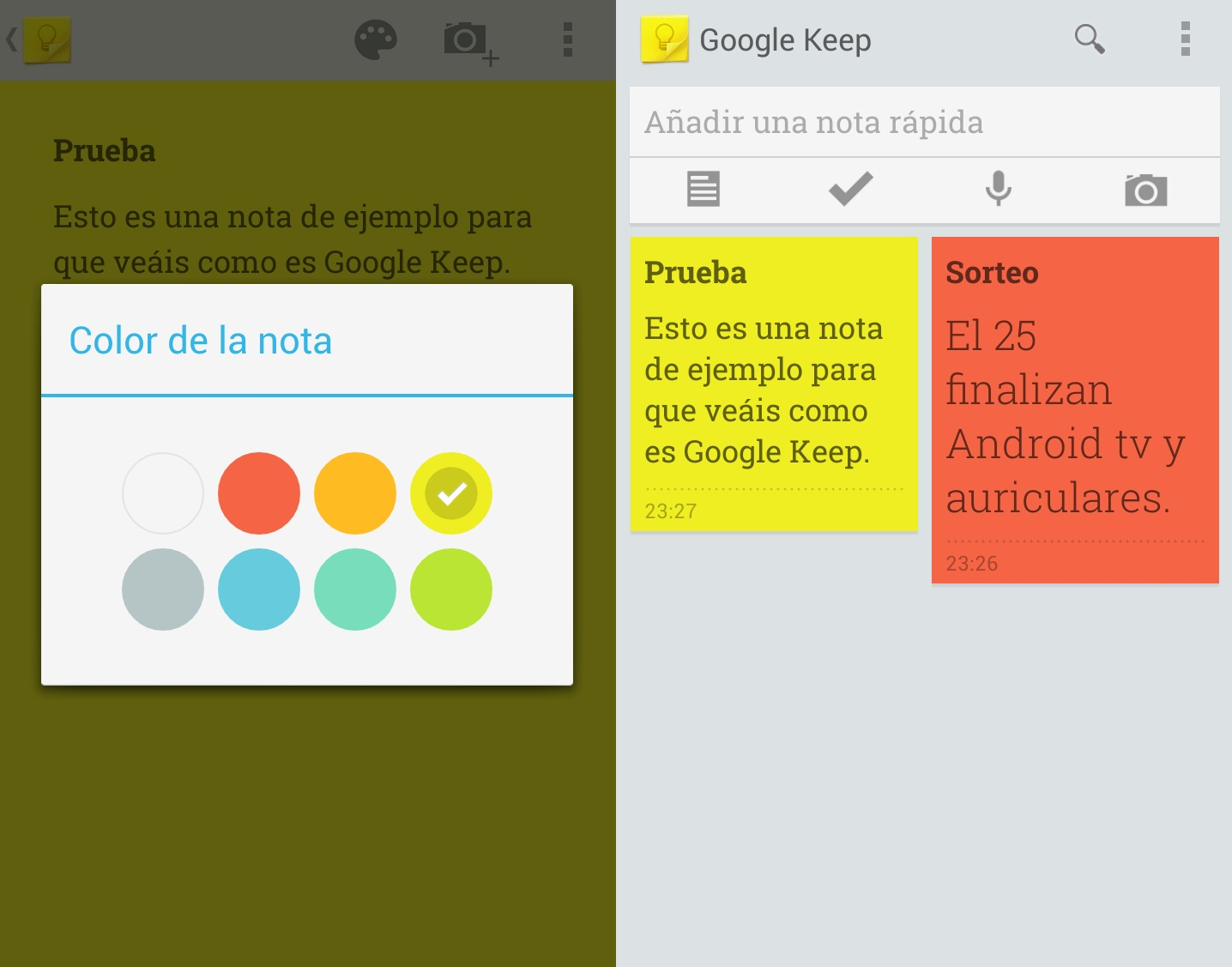 google keep notas android