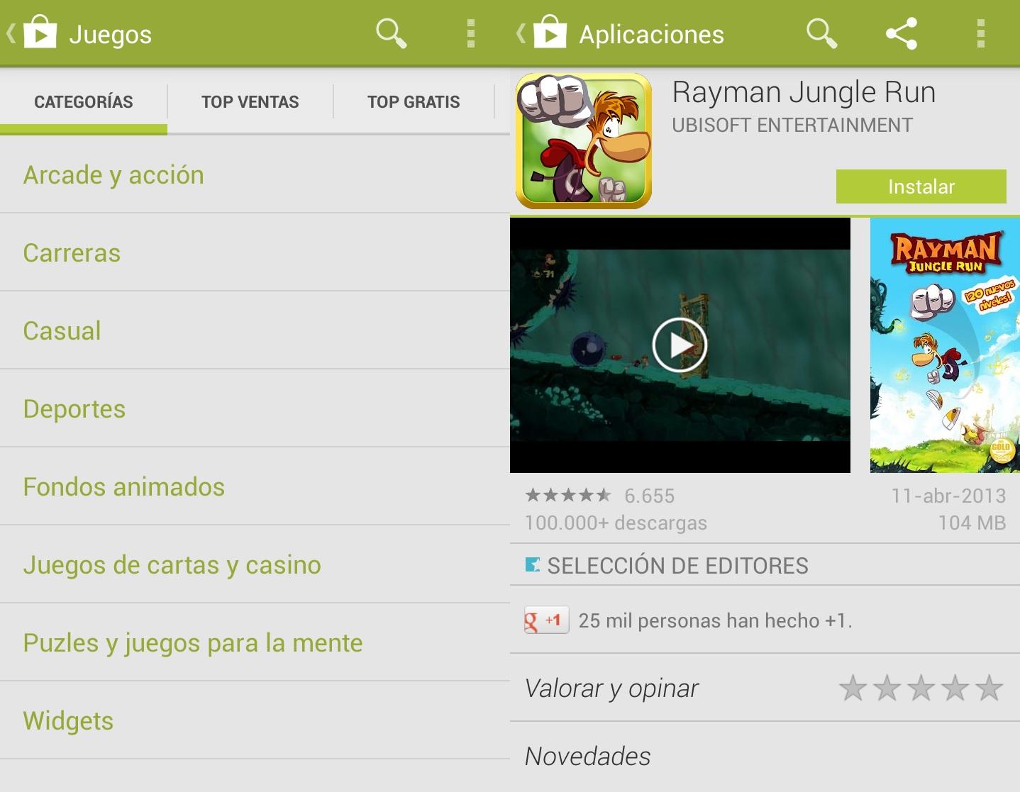 nuevo google play