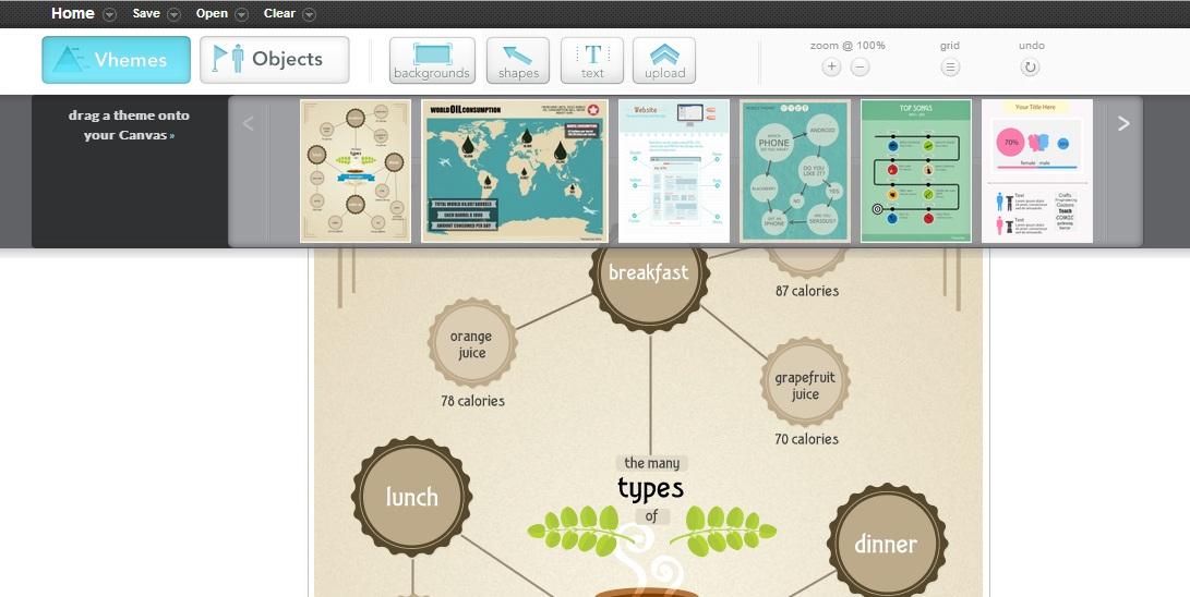 easel infografia themes