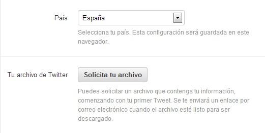 solicitar tweets twitter