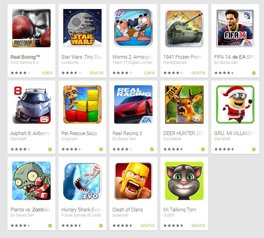 Mejores juegos Android 2013