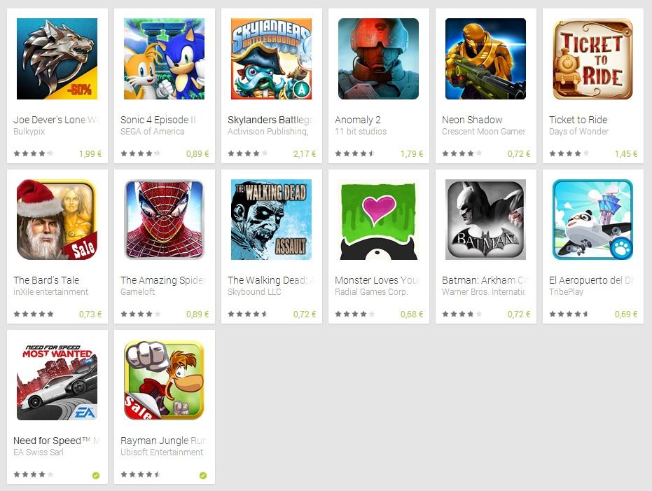 Ofertas Juegos Android 2013 Navidad