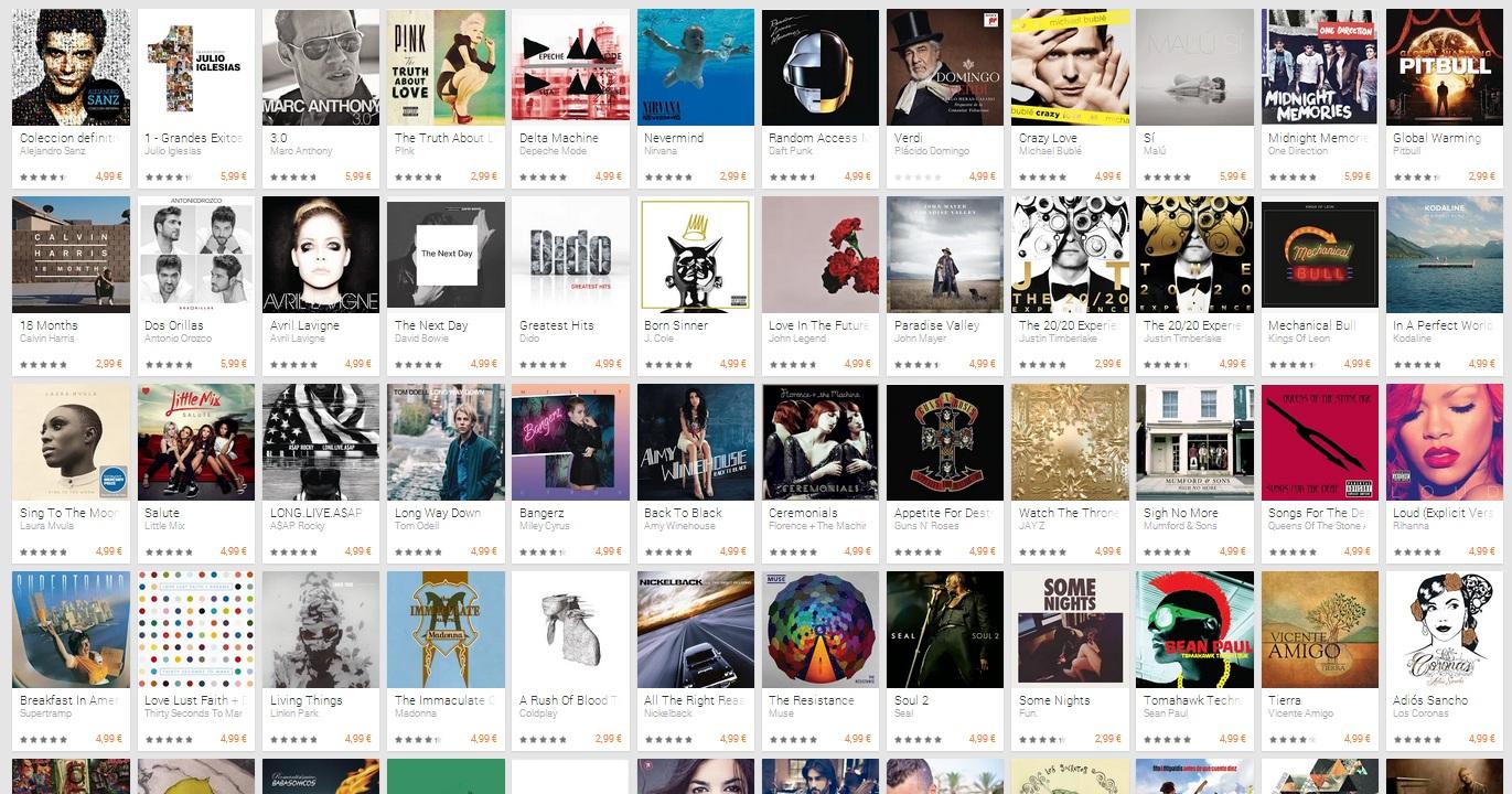 musica oferta navidad 2013 google play
