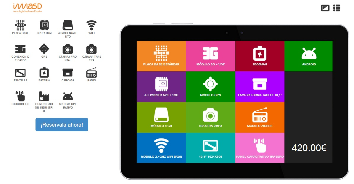 tablet modular imasd