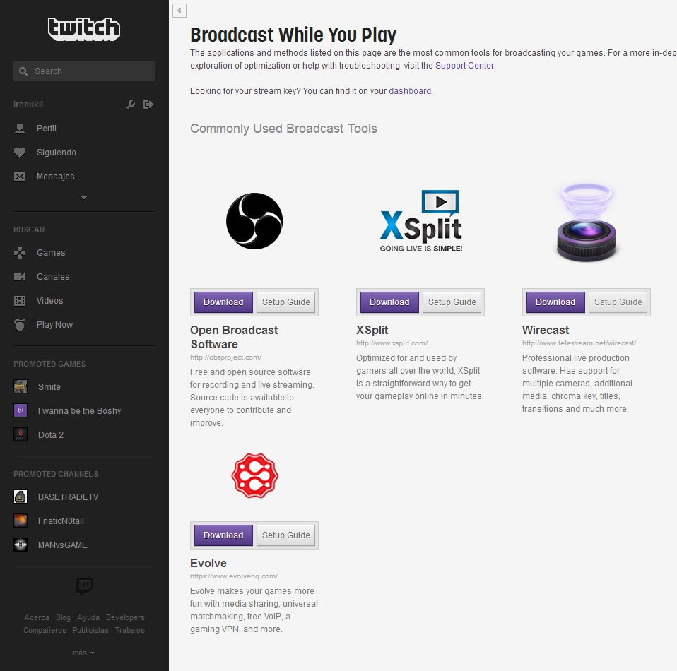 Programas para hacer streaming de gameplays