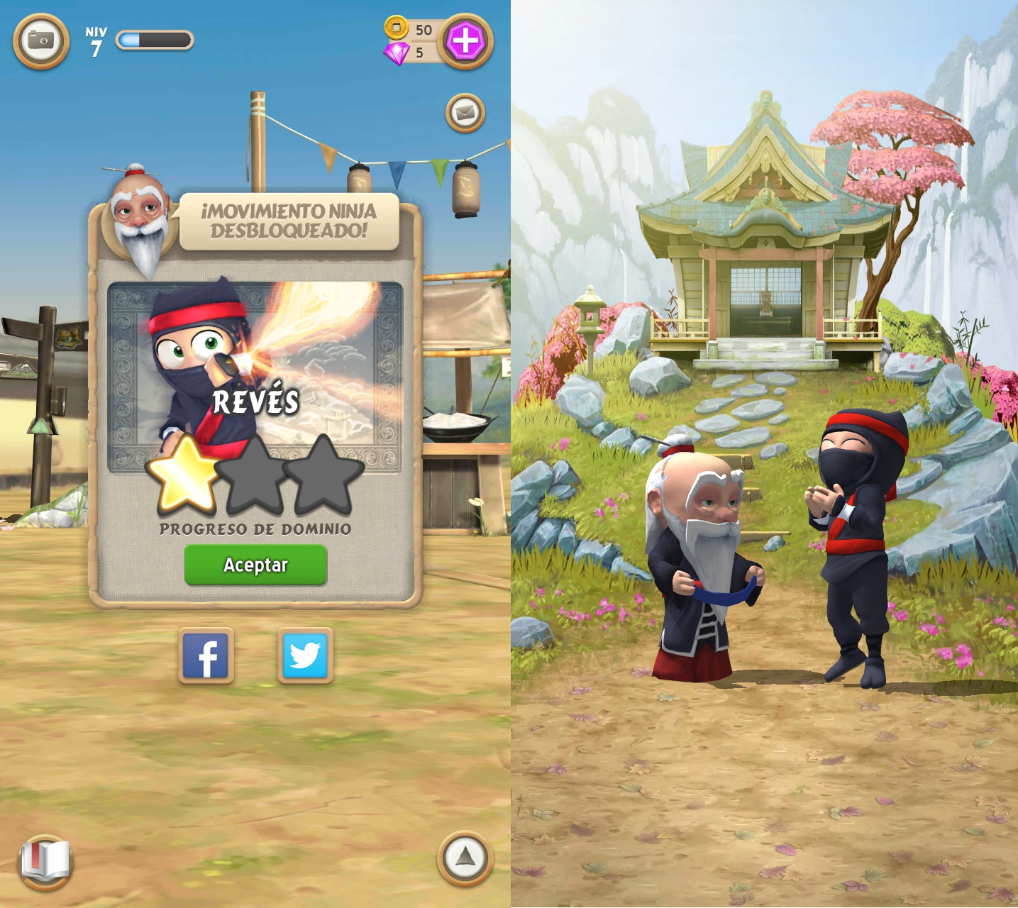 Clumsy Ninja Movimientos