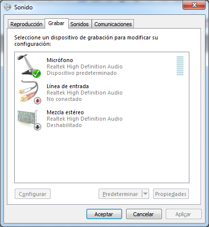 Mezcla estéreo Windows 7