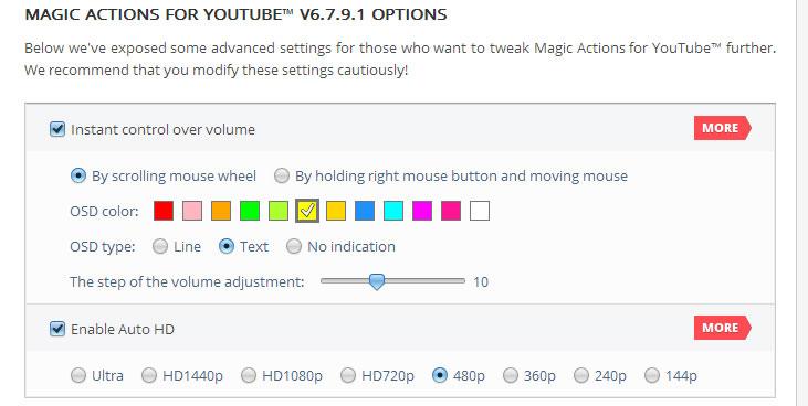 Magic-Actions-for-YouTube-configuración