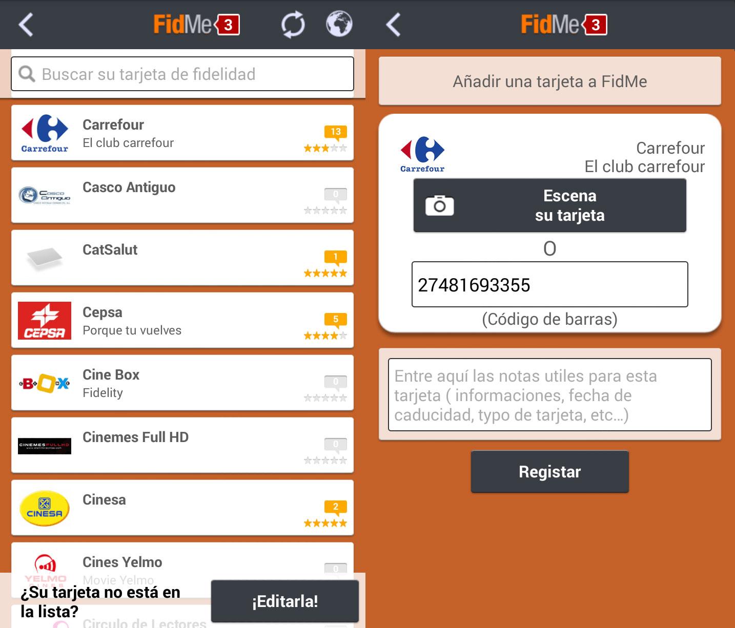 FidMe-Tarjetas-Fidelización-Android