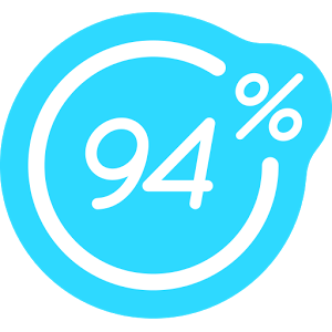94 por ciento Icono