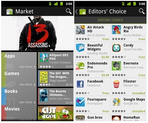 nuevo android market