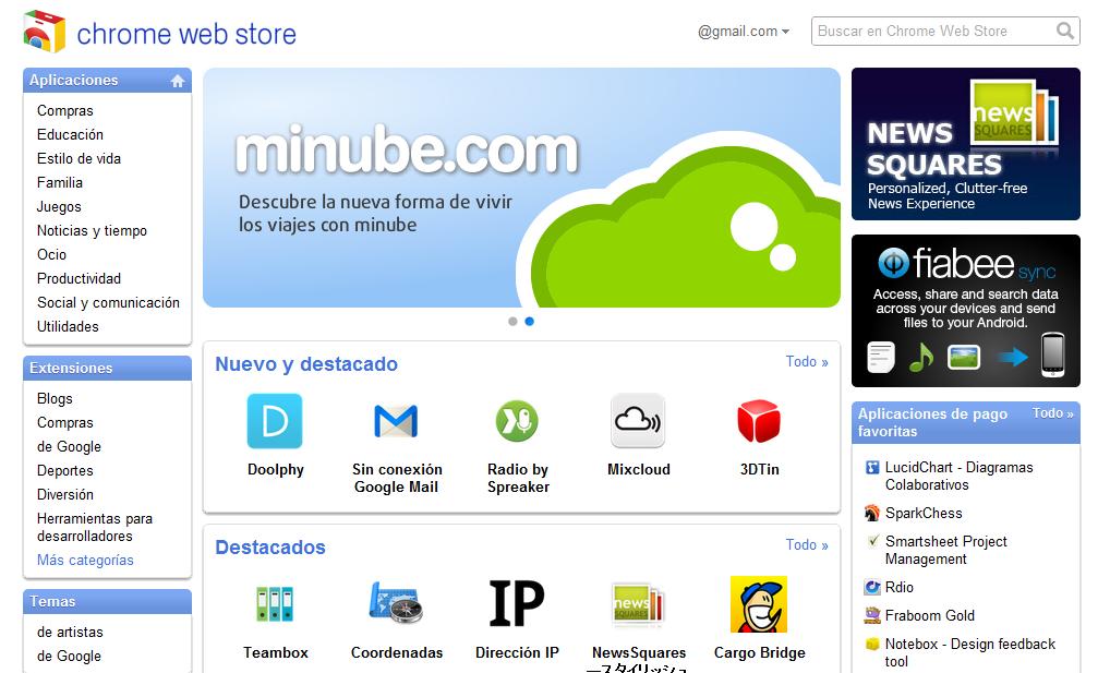 chrome web store españa