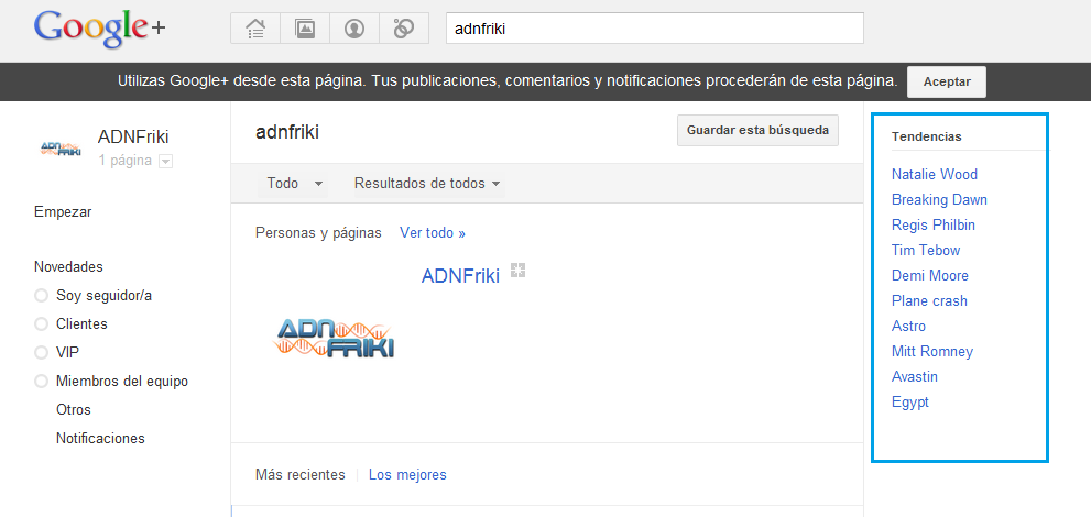 tendencias google+