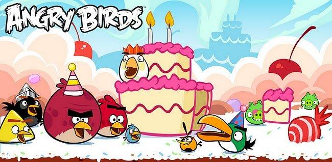 angry birds cumple 2 años