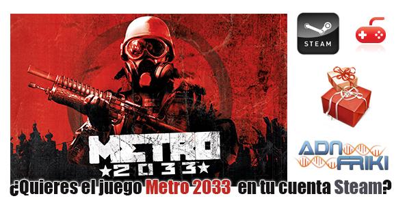 sorteo juego  metro2033