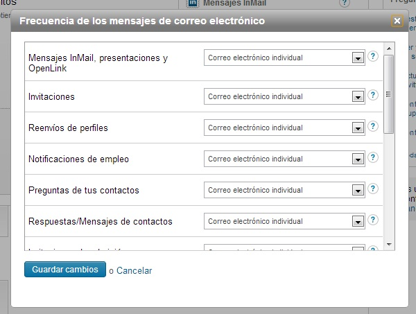 desactivar notificaciones de linkedin