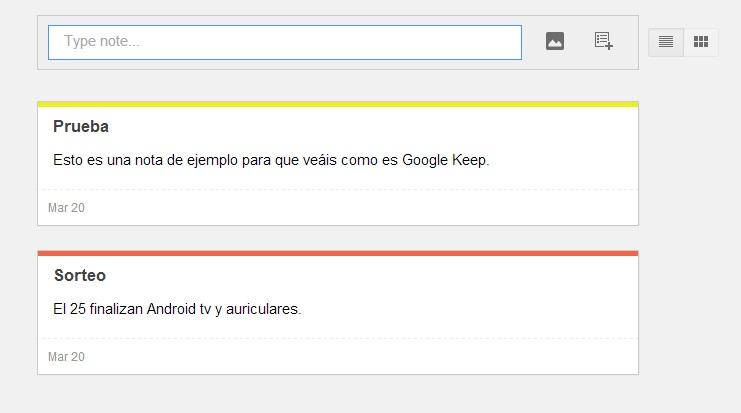 google keep notas