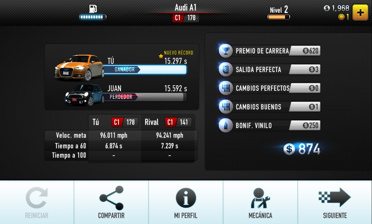 CSR Racing carrera