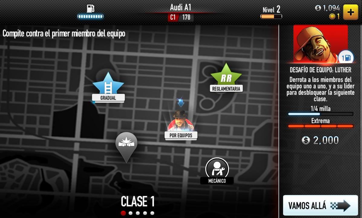 CSR Racing clase 1
