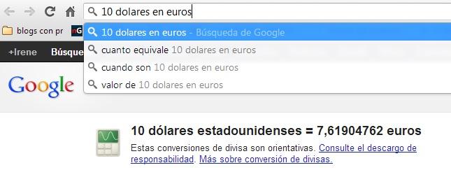 conversor divisas google chrome