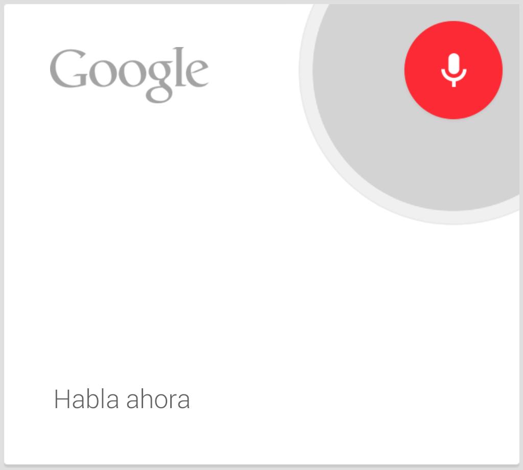 google now habla ahora