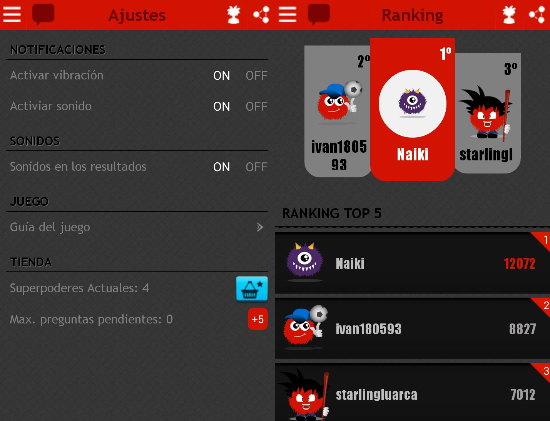 rankings lo sabe no lo sabe android