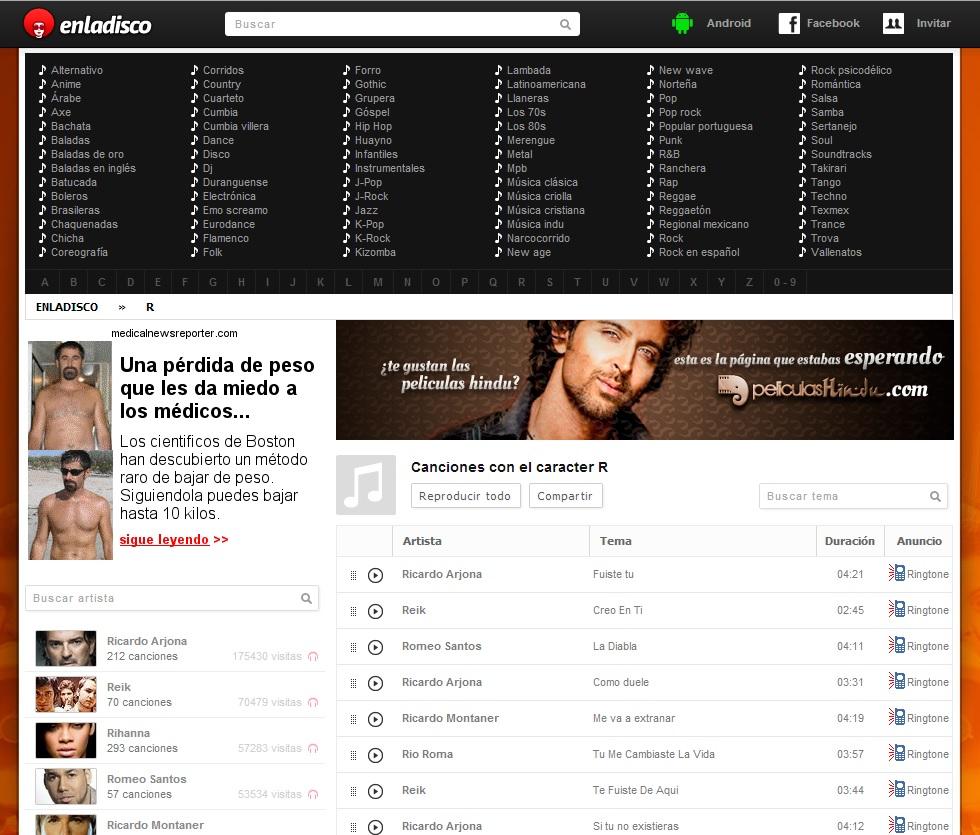 esladisco escuchar musica online