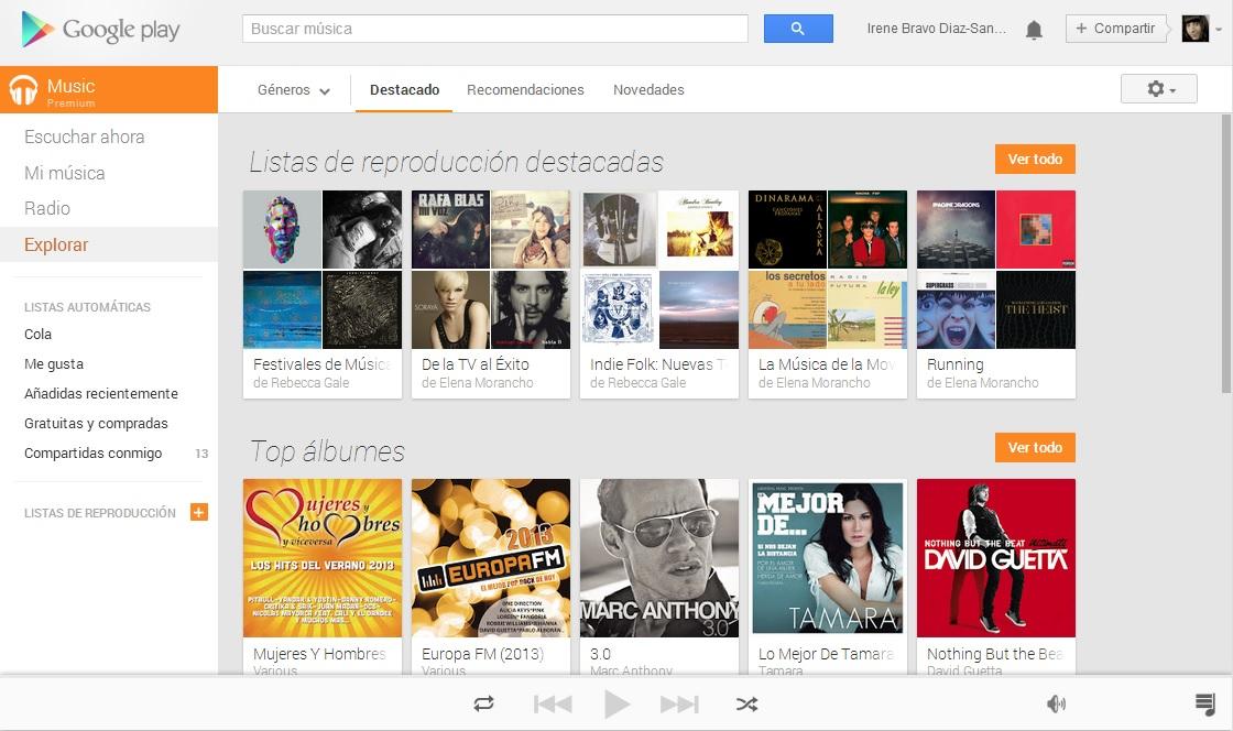 google play music premium españa