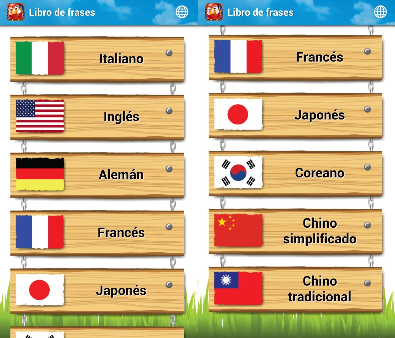 libro de frases idiomas android