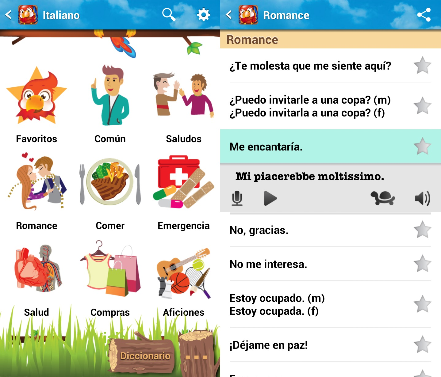 libro de frases italiano android
