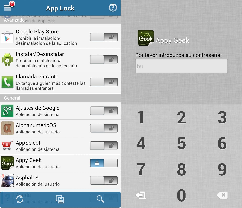 usar app lock