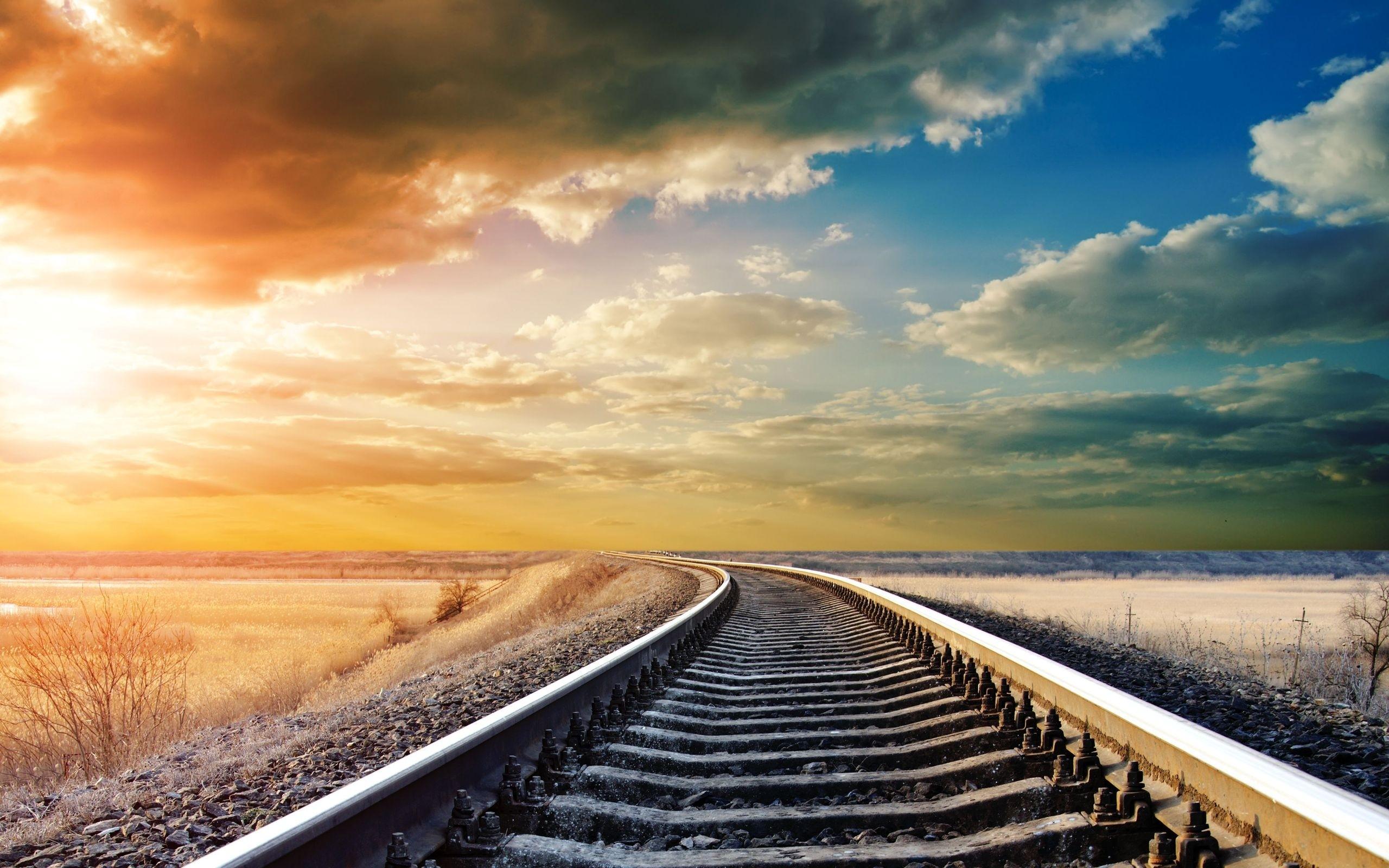 Fondos Vías de ferrocarril (Railroad Tracks) ADNFriki (10)