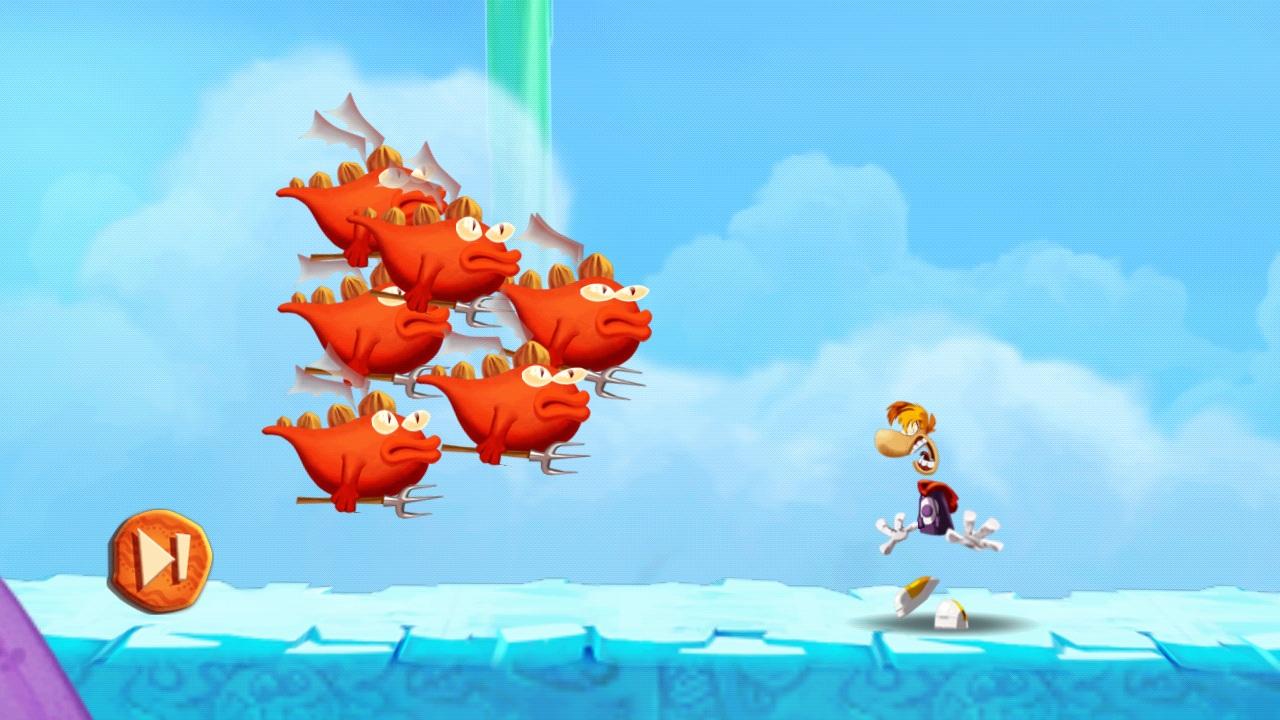Rayman Fiesta Run esquivar enemigos
