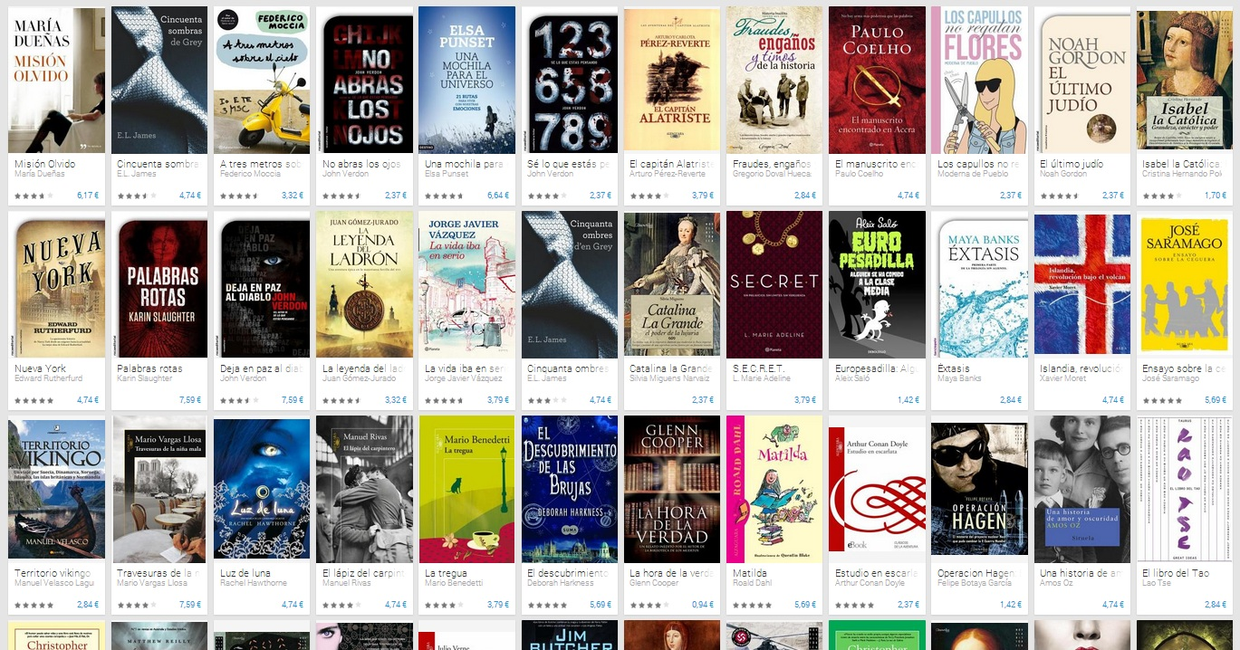 Libros oferta Navidad 2013 Google Play