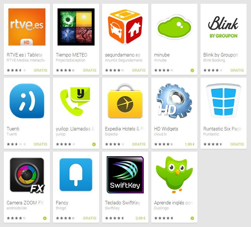 Mejores aplicaciones Android 2013