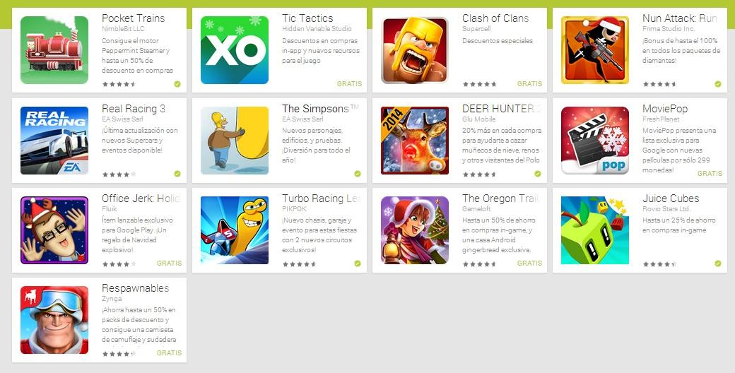 juegos Android en oferta Navidad 2013
