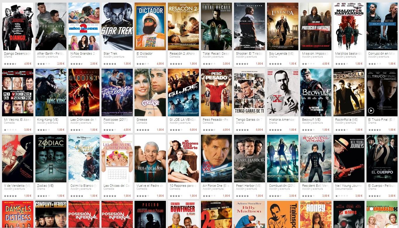 peliculas oferta Navidad 2013 google play