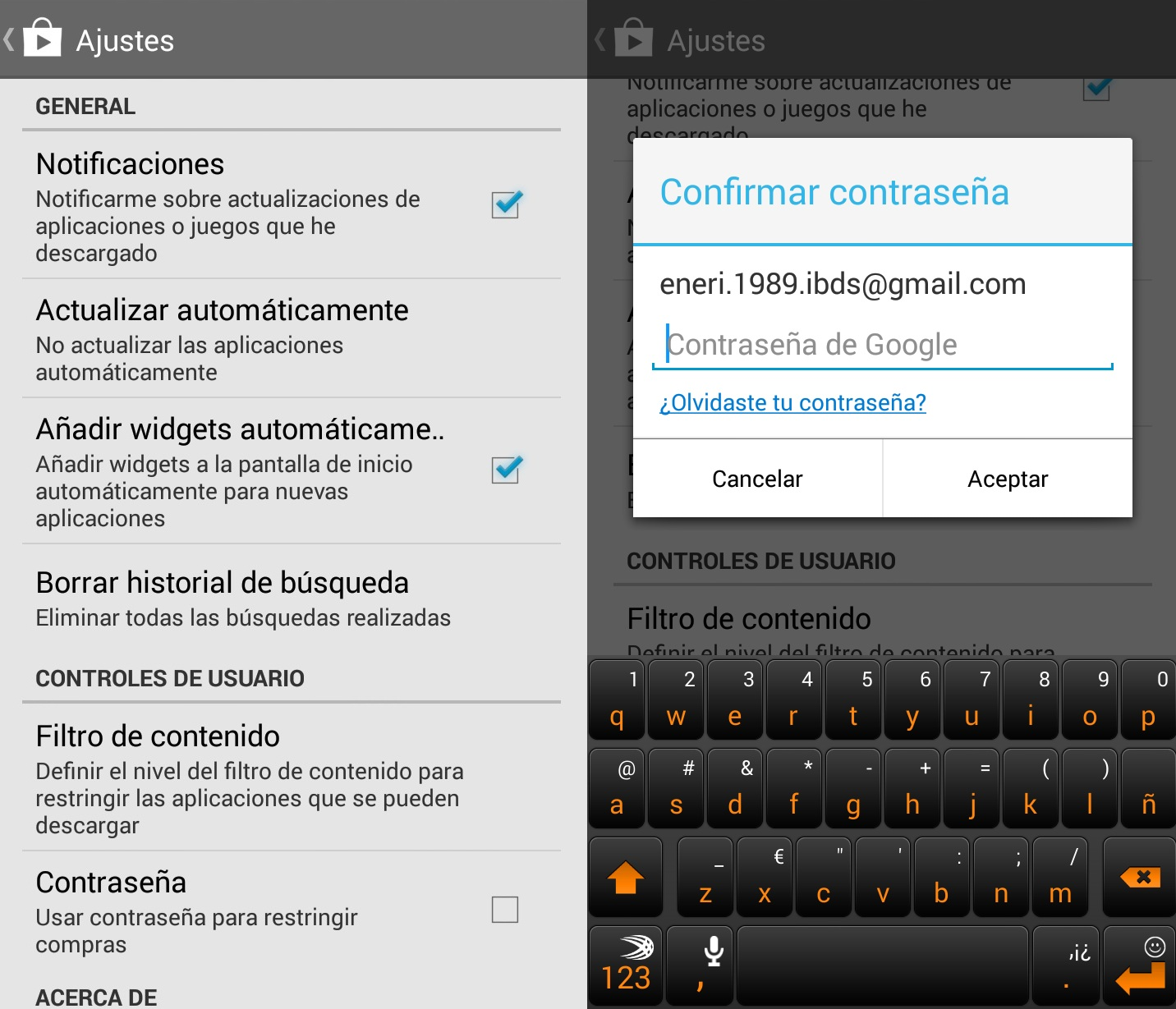 Proteger compras Google Play