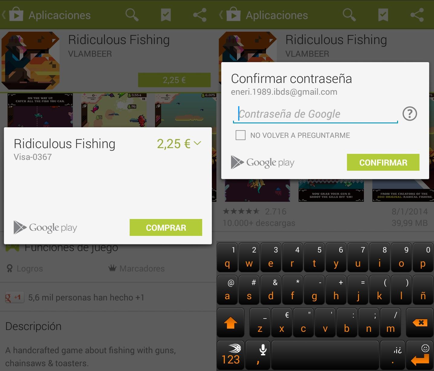 Proteger pagos Google Play