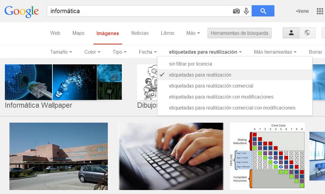 buscar imagenes sin derechos de autor google imagenes
